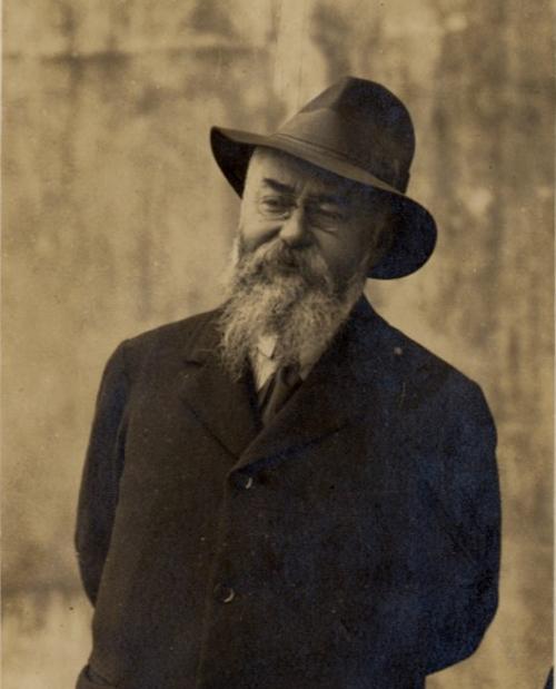 Portrait de Franics Jammes ; 1917 / photographie / Bibliothèque Patrimoniale Pau / cote PHA53 (33)