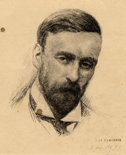 P.-J. Toulet. Portrait au fusain par Suzanne Clausade ; 1930 / Bibliothèque Patrimoniale Pau / cote 250450