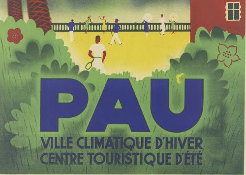 Détail de : Pau, ville climatique d'hier, centre touristique d'été ; vers 1935 ; Bibliothèque Patrimoniale de Pau, affiche publicitaire ; cote 240300