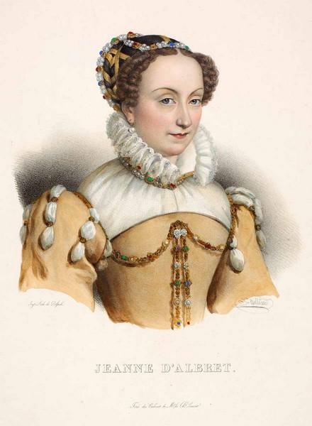 Portrait de Jeanne d'Albret en buste ; 1826 ; Musée National du Château de Pau, affiche publicitaire ;cote P.1182