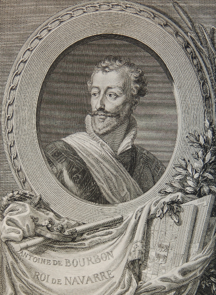 Portrait en buste d'Antoine de Bourbon, roi de Navarre ; 1777/1779 ; Musée National du Château de Pau, estampe ;cote P.88.2.1.32