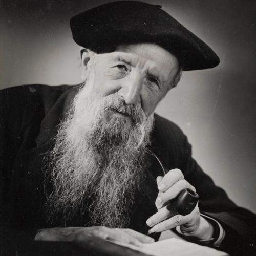 Portrait photographique de Simin Palay fumant sa pipe |[détail] / s. d. / Bibliothèque Patrimoniale de Pau / cote PHM-024