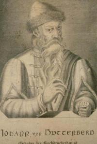 Johann von Guttenberg. Erfinder der Buchdruckerkunst / Bibliothèque nationale et universitaire de Strasbourg, NIM16084