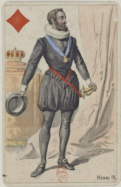 """[Jeu de cartes au portrait de fantaisie dit """"de l'Histoire de France""""]"""