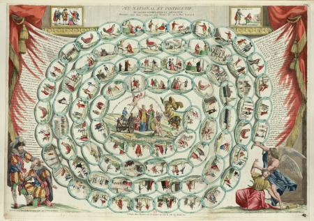 Jeu national et instructif ou leçons exemplaires et amusantes : données aux bons citoyens, par Henri IV et le Pere Gerard