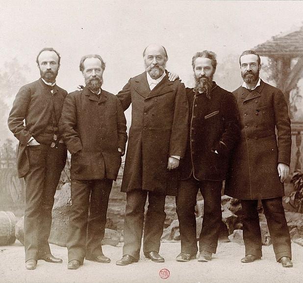 Les frères Reclus, par Nadar, 1889 / Source : Wikipedia